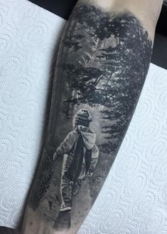 Boy in Woods Tattoo