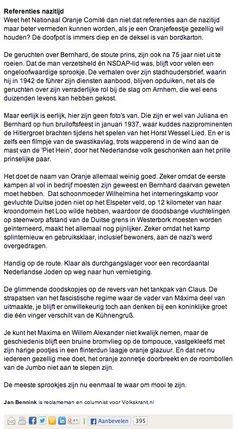Column nr 35 Volkskrant Opinie Part 2