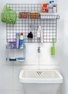 Bathroom Organization Ideas Diy Small Spaces Ideas For 2019 Ikea Stolmen, Small Apartments, Small Spaces, Laundry Decor, Diy Casa, Bathroom Organization, Organization Ideas, Sweet Home, Home Decor