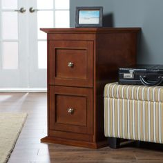 Belham Living Hampton Two Drawer Filing Cabinet - Cherry - File Cabinets at Hayneedle