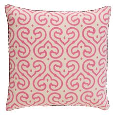 Pink Ivy Blockprint Pillow