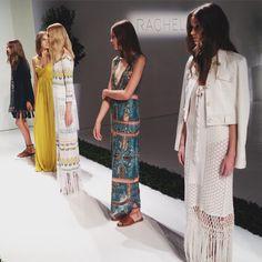 Bohemian glamour, as per usual at @rachelzoe SS16 #SCxNYFW