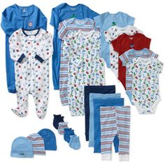 $38 0-3 months, but he wouldn't need anything else lol Garanimals Newborn Boys' 21 Piece Layette Set