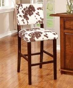Look at this Udder Madness Corey Bar Stool on #zulily today!