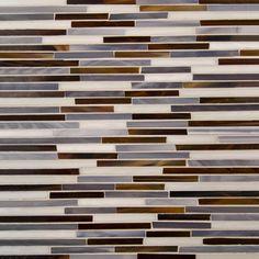 GLASS - Chicago Satchmo Sticks Gloss Mosaic Blend : Artistic Tile : Palette App : Simply Powerful