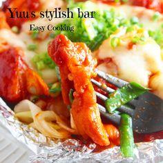 彼が喜ぶ♪スタミナ飯!コリアン風♡チキンチーズのホイル焼き | Yuu*さんのお料理
