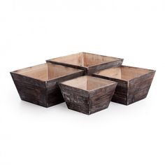 Rustic Square Tapered Wood Planters for centerpieces...a possibility