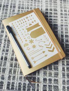 Essentials 2.0 Bullet Stencil for Bullet Journal Filofax Midori Traveler's Notebook Hobonichi Erin Condren Planner (8.00 USD) by MooAndTheBoo