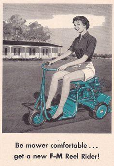 Fairbanks-Morse Lawn Mower Ad 1957