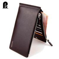 2016 Fashion famous brand pu Leather Men Wallets luxury Men Long Zipper Wallet Cards Bits Multifunction Clutch wallet Cuzdan
