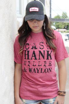 Cash Hank Red Heather Tee