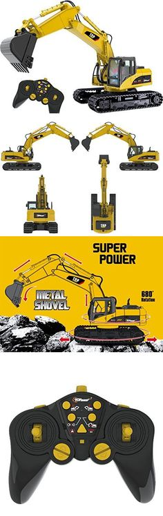 Industrial and Service Vehicles 182184: Remote Control Backhoe Kids Construction Loader Rc Toy Excavator Wheeled Toys -> BUY IT NOW ONLY: $124.49 on eBay!