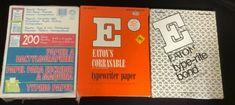 VINTAGE LOT OF TYPEWRITER PAPER-EATON & NORCOM-3 OPEN PACKS   eBay Blue Gel, Gel Ink Pens, Typewriter, Vintage Colors, Packing, Play, Paper, Gifts, Paper Envelopes