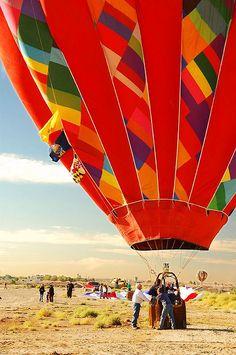 Landing, Albuquerque Balloon Fiesta, New Mexico