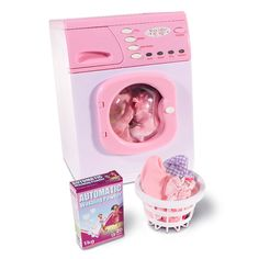 Buy Casdon Toy Electronic Washing Machine - Pink at Argos. Little Girl Toys, Cool Toys For Girls, Baby Girl Toys, Baby Doll Nursery, Princess Toys, Baby Doll Accessories, Baby Alive, Kids Toys, Elliev Toys