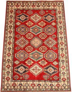 Red Kazak Carpet/Rug No. 4624  http://www.alrug.com/4624