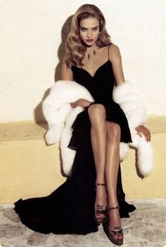 Fur | old Hollywood glamour #topshoppromqueen