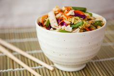 Chinese Cabbage Salad with Spicy Peanut Sauce