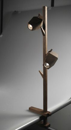 Ashleigh Stephens' pod lamp. Clamps anywhere. The light bodies can be unhooked and used as torches.