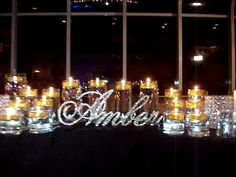 Buy Script Crystal Rhinestone Sweet 16 Candelabras® For Your Candle  Lighting Ceremony.Call (