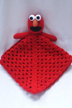 Ravelry: Elmo Lovey / Security Blanket by Jennifer Lynas