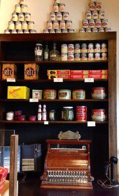 Edwardian-era store shelf reproduction.