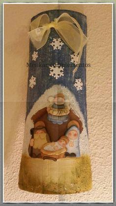 Teja decorada con Belén