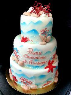 prima comunione con la torta della pasticceria La Mimosa di http://www.simocakedesigner.it