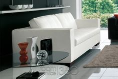 Free Sofa Bed with Dark Brown Wood Legs by Bonaldo