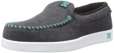 DC Shoes Women's Villain TX Sneaker,Black/Seafoam,7.5 US/7.5 M US (887767158201) Black/White Womens