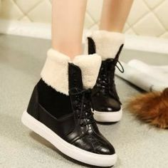 SHARE & Get it FREE | Lace Up Fuzzy Hidden Wedge BootsFor Fashion Lovers only:80,000+ Items • FREE SHIPPING Join Nastydress: Get YOUR $50 NOW!