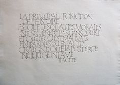 Laurent Rebena calligraphie oeuvre capitale romaine plume creation