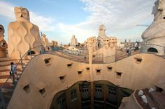 Casa Milà, commonly known as La Pedrera is the largest civil building designed by Antoni Gaudi. The apartment block was constructed between 1906 and 1910.