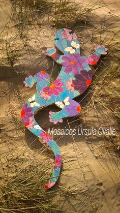 Lagartija en mosaico.