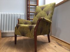 Vintage Green Parker Knoll Armchair reupholstered and