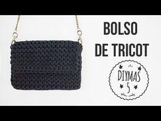 Bolso negro de tricot con trapillo - YouTube