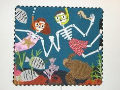 Water World de los Muertos by Nancy Arseneault.  Private collection.