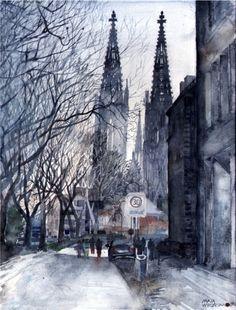จากเมืองต่างๆ ในทวีปยุโรปเป็นภาพสีน้ำสวยใส โดย Maja Wrońska ศิลปินชาวโปแลนด์ - PORTFOLIOS*NET