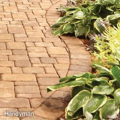 building brick paths and stone walls creates a magical landscape. it