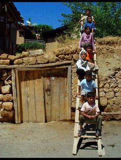 Kurdish children village life.