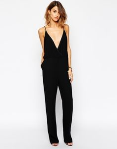 Buy BA&SH Derek Cami Jumpsuit at ASOS. With free delivery and return options (Ts&Cs apply), online shopping has never been so easy. Get the latest trends with ASOS now. Summer Holiday Outfits, Spring Summer Fashion, Spring Outfits, Chill Style, Style Me, Essentiels Mode, Look 2017, Black White Fashion, Overall