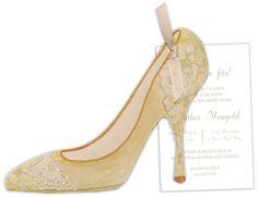Brocade Shoe Die-Cut Invitations
