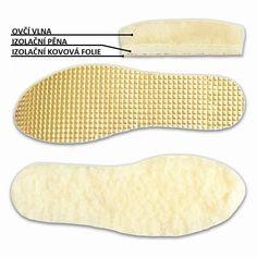 Vložky do topánok z ovčej vlny s izolačnou fóliou