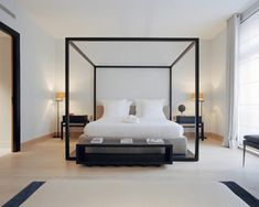 Bed in a box! Just amazing. Add contrast to any minimal room. Love flat black.