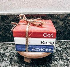 Americana Crafts, Patriotic Crafts, July Crafts, Holiday Crafts, Summer Crafts, Holiday Ideas, Fourth Of July Decor, 4th Of July Decorations, July 4th