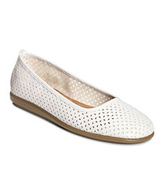 Love this White Solsa Dance Flat on #zulily! #zulilyfinds