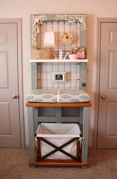 Ador - changing table made from an old door