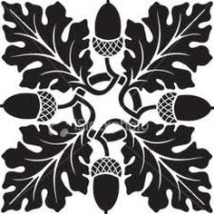 oak leaf and acorn pattern - Google Search