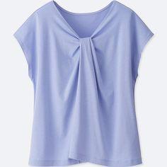 Women 2-way tuck design short-sleeve t-shirt e5df61364cb85