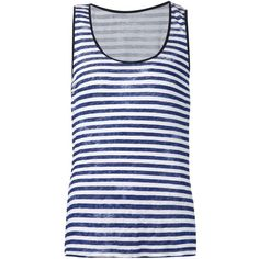 Majestic Filatures striped tank top ($195) ❤ liked on Polyvore